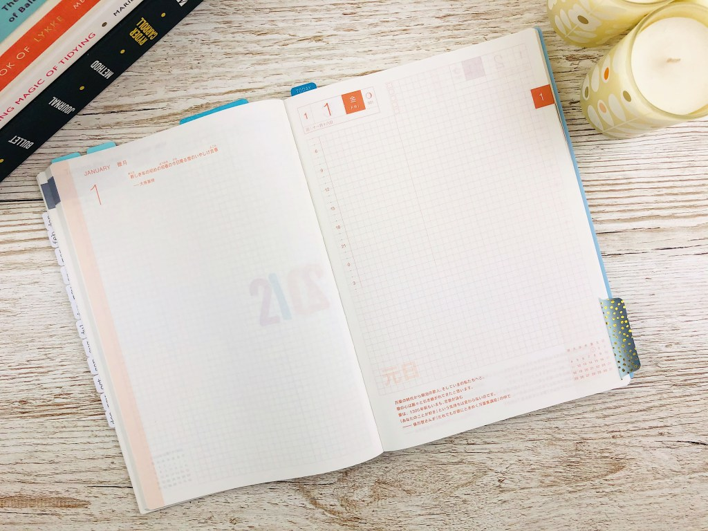 hobonichi cousin daily pages