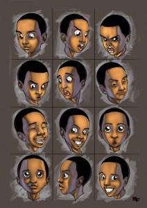 """""""Boy Expressions"""" by Setor Fiadzibey"""