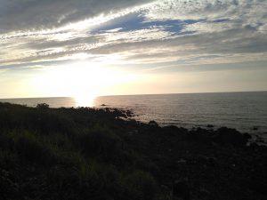 日本海に沈む太陽