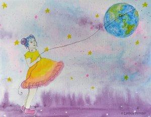 Earth Walker painting by Letitia Pfinder