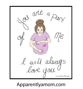 Part of Me Illustration for apparentlyamom.com by Letitia Pfinder