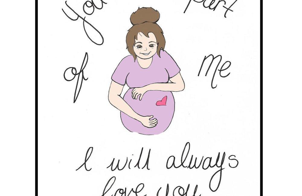 Part of Me Illustration for apparentlyamom.com by Letitia Pfinder