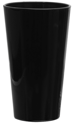Black Pint Glass