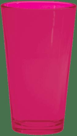 Fluorescent Pink Pint Glass