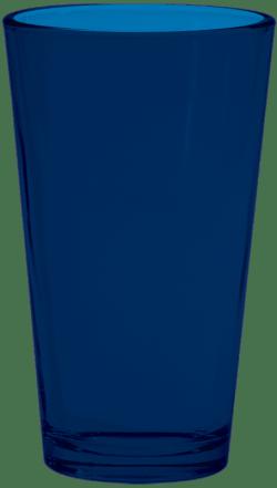Navy Pint Glass