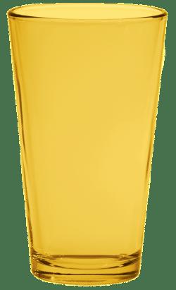 Yellow Pint Glass