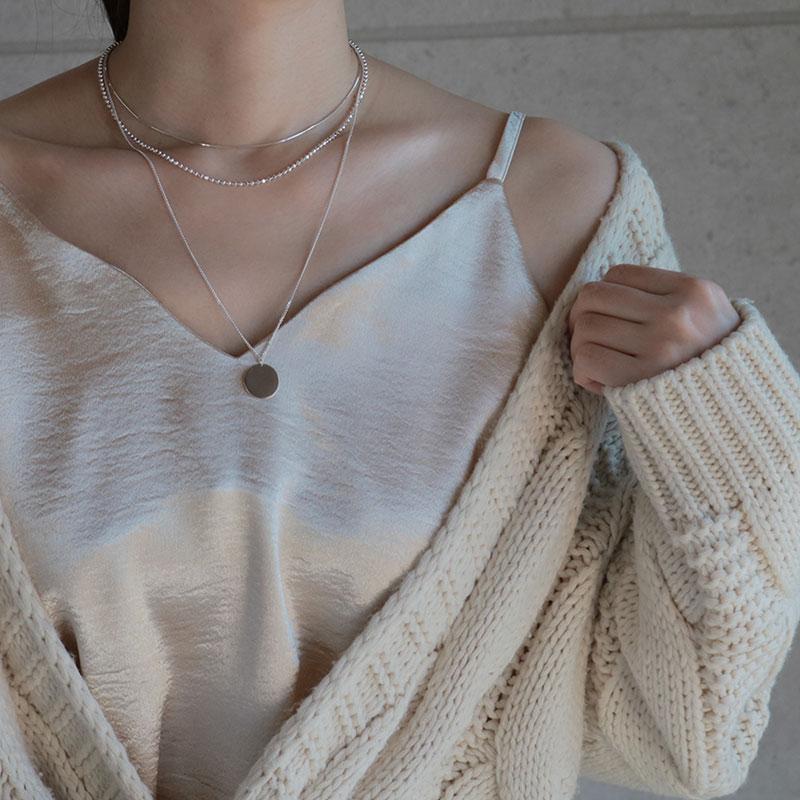 eclat(エクラ)Thin Snake Chain Choker Necklace