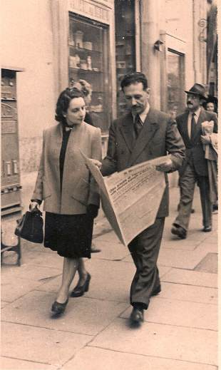 La madre e il padre di Giorgio Israel, 1940