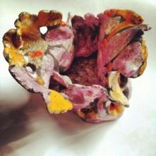 Fiore nido, ceramica raku, 2011, h. 30 cm. ca.
