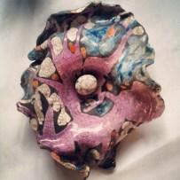 Nido, ceramica raku, 2011, 30 x 40 cm. ca.