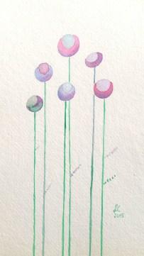 Moonflowers, watercolour, 2015