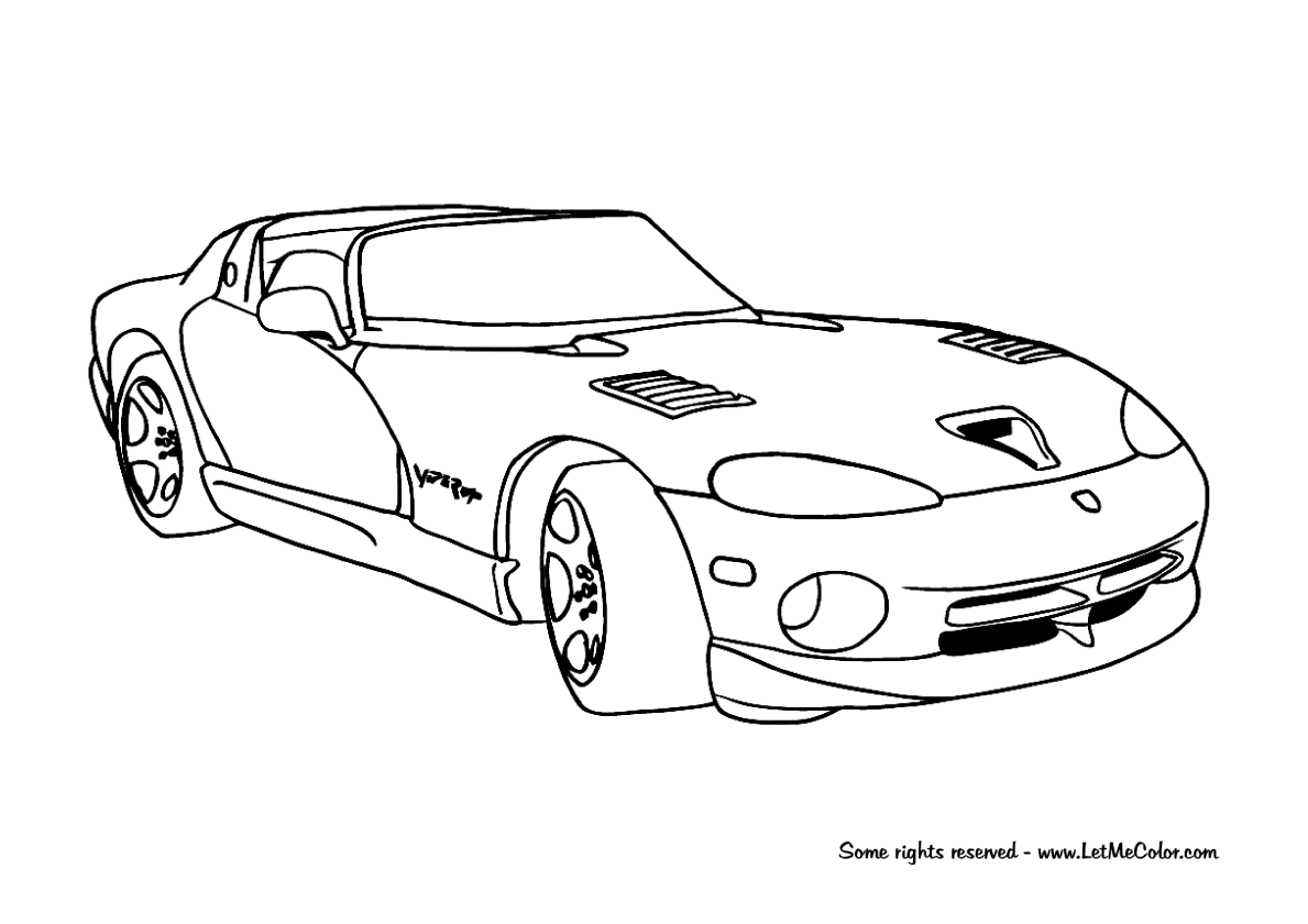 Coloring Supercars Page 4 Letmecolor