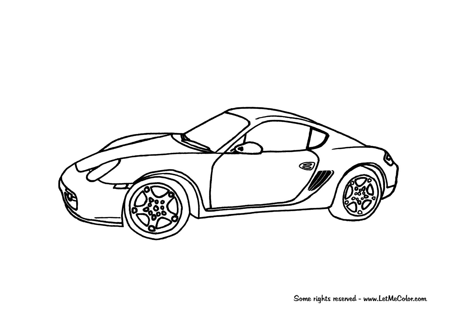 Porsche Coloring Pages
