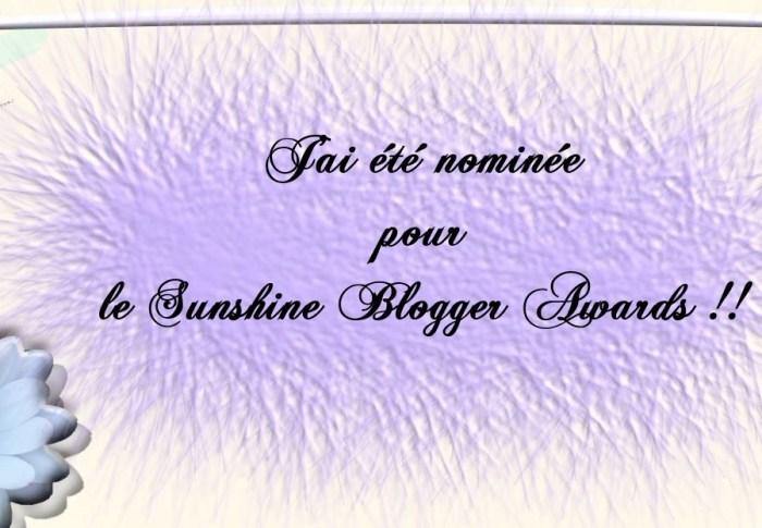 J'ai été nominée par le Sunshine Blogger Awards !!