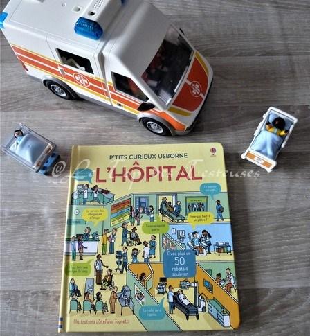 """Tess a testé """"Ptit's curieux Usborne"""" : L'Hôpital"""