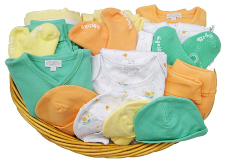 le•top winning prize basket full of goodies from our Sunshine Yellow, Creasicle Orange, Spearmint Green, and Go Fish Collections