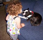 Lilah gets doggie kisses