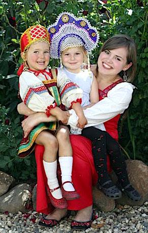 Elena, Sacha and friend