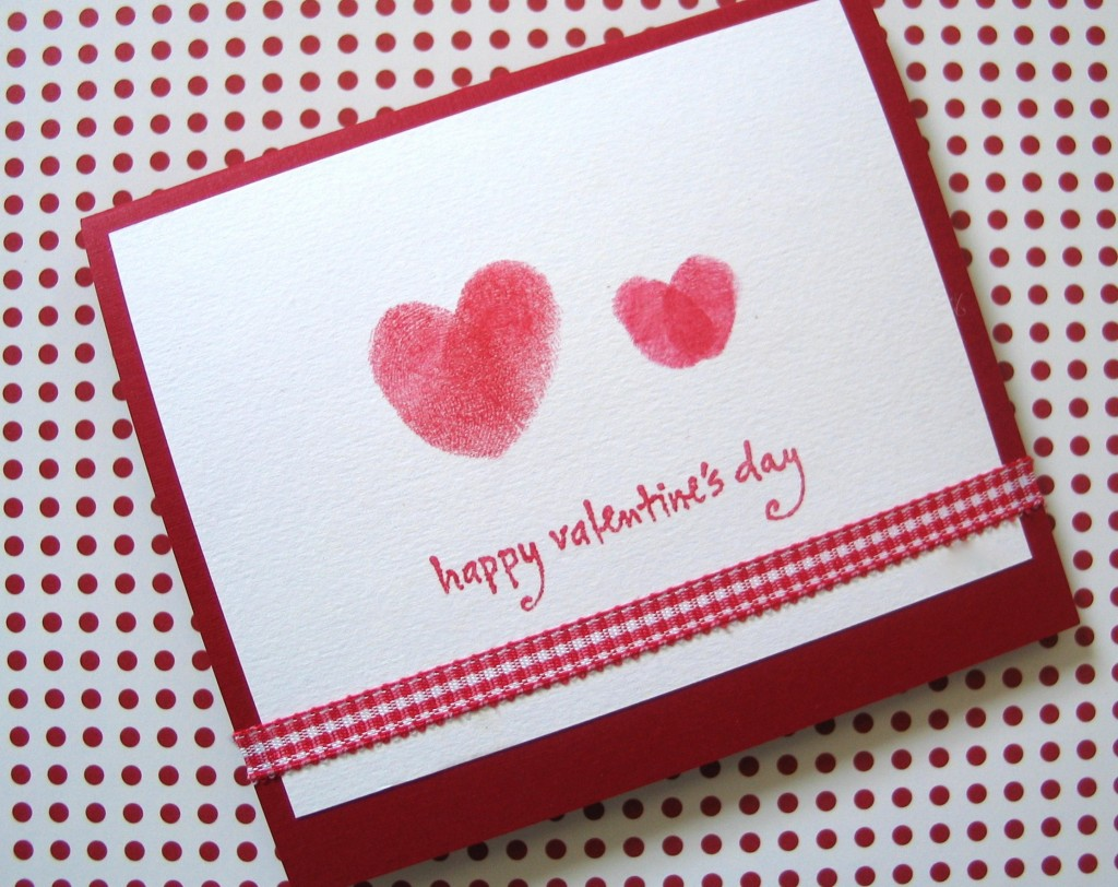 From The Heart Homemade Valentine S Day Thumbprint Cards