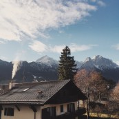 The view from the window out of our tiny hotel in Garmisch, Germany. I loved that all of our hotels had steam rooms and towel heaters. SF could learn a thing or two from the Germans!