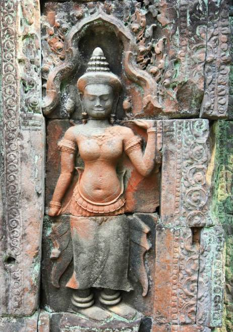 Temple Angkor Statue