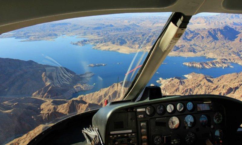 lac mead hélicoptère