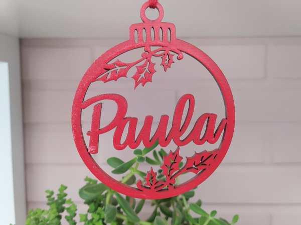 Esfera de Navidad con Nombre Pintada