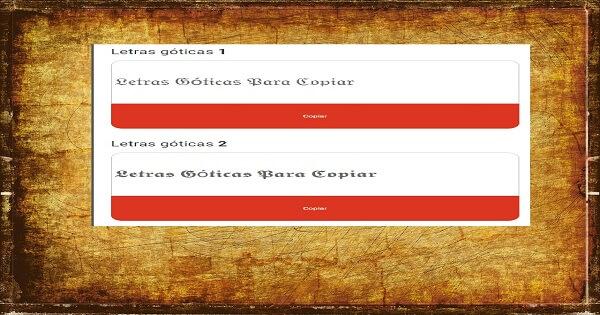 Letras Góticas Para Copiar