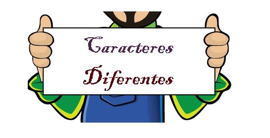 Caracteres Diferentes