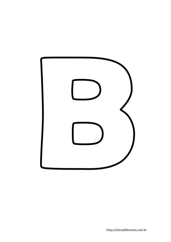 Letra B para imprimir grátis, moldes de letras