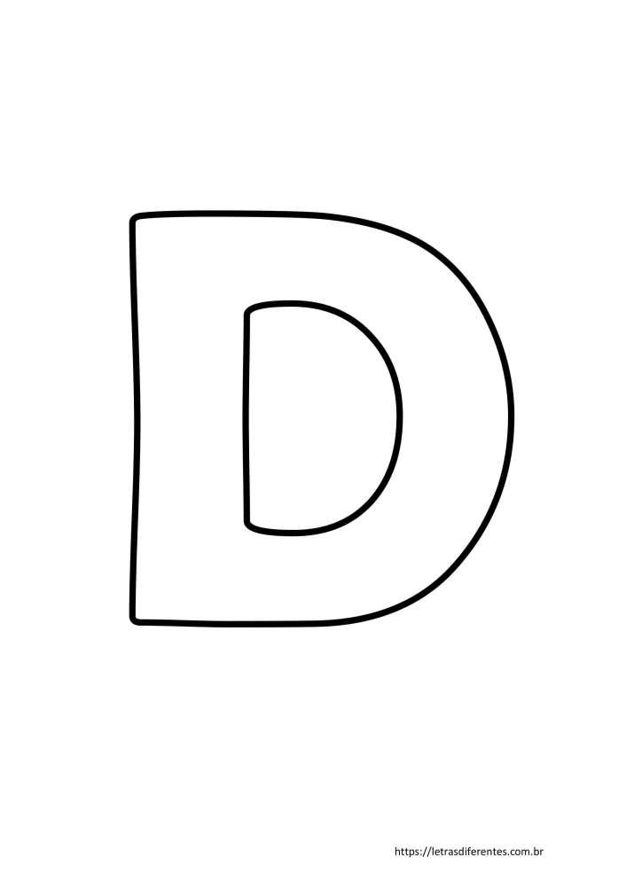 Letra D para imprimir grátis, moldes de letras
