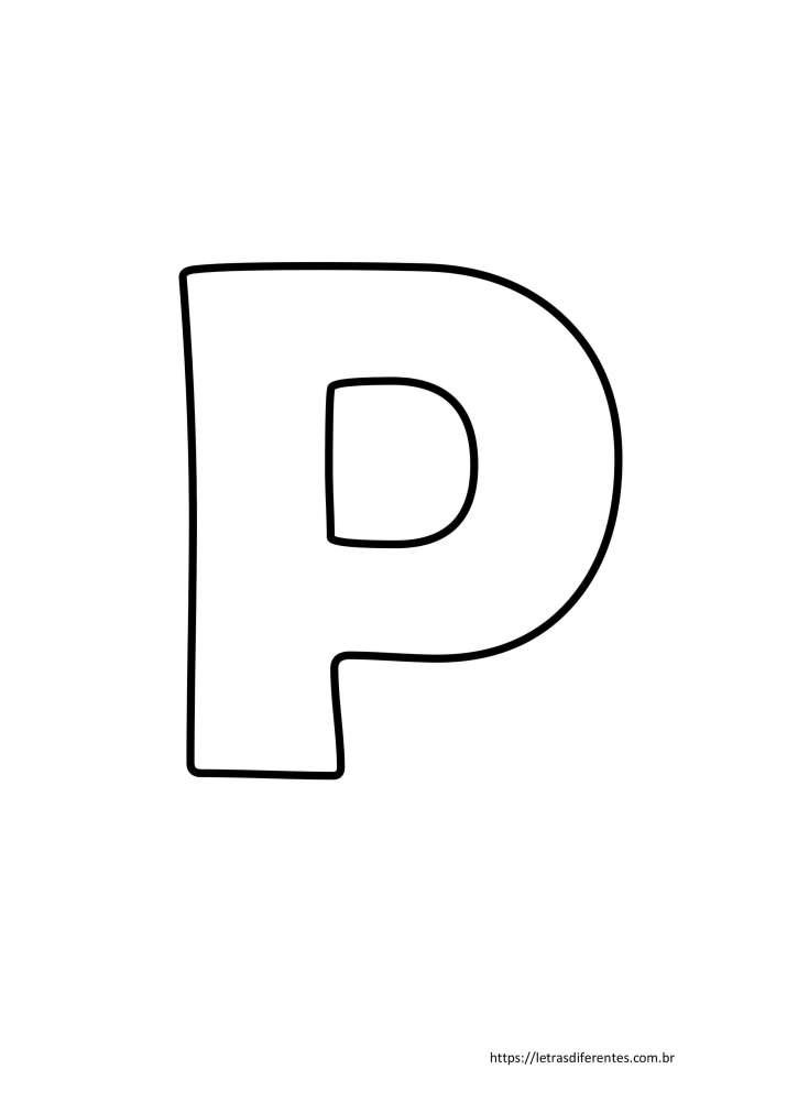 Letra P para imprimir grátis, moldes de letras