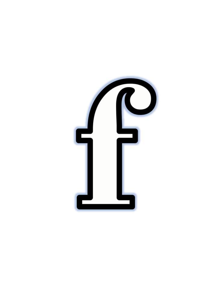 Moldes de Letras f Para Recortar