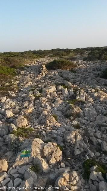 O caminho das pedras brancas.