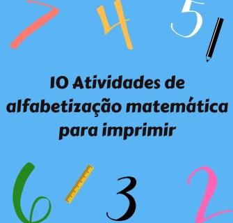 10 ideias de atividades de matemática para imprimir