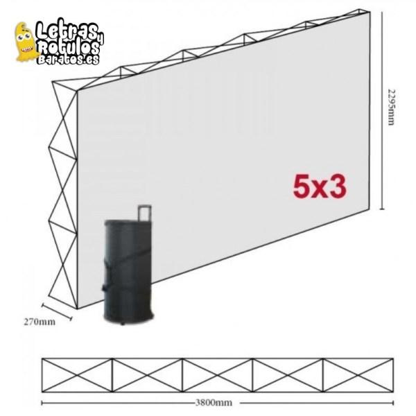 Pop Up 5x3 (380x230cm)
