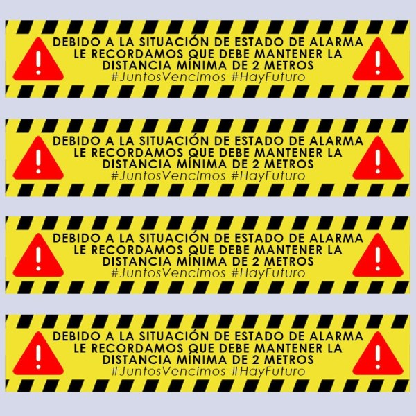 Pegatina Especial Precaución COVID19