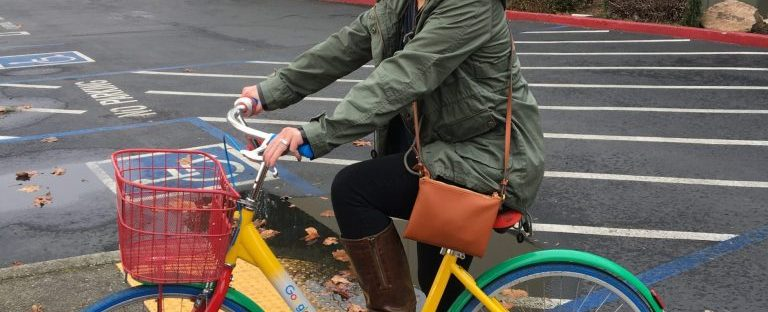 Riding a Google Bike in San Jose California