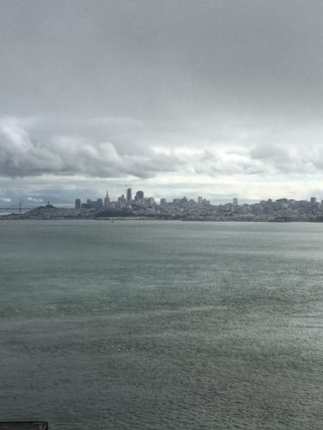 View of San Francisco from the bridge