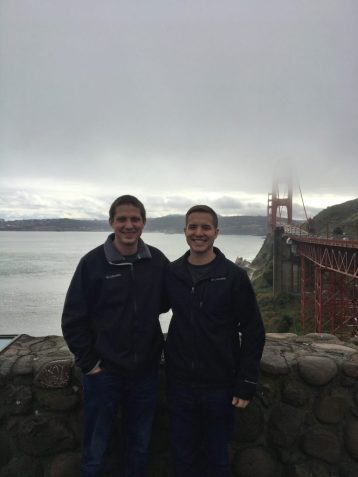 Eric and Kevin at the Golden Gate Bridge in San Francisco