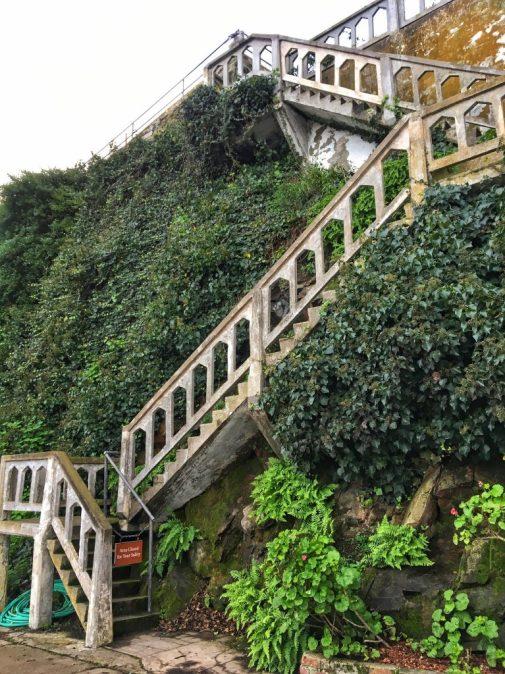Staircase on Alcatraz in San Francisco