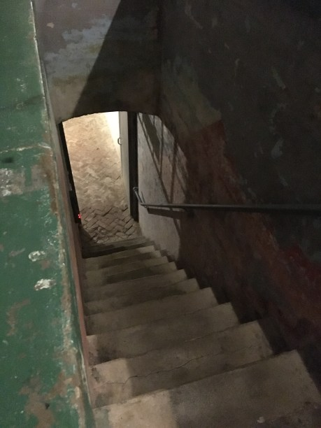 Stairs to the dungeons of Alcatraz