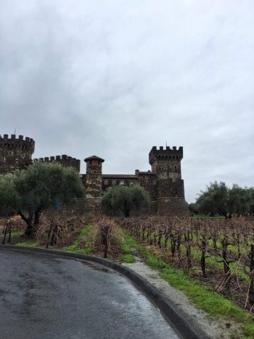 Entrance to Castello di Amorosa in Napa California