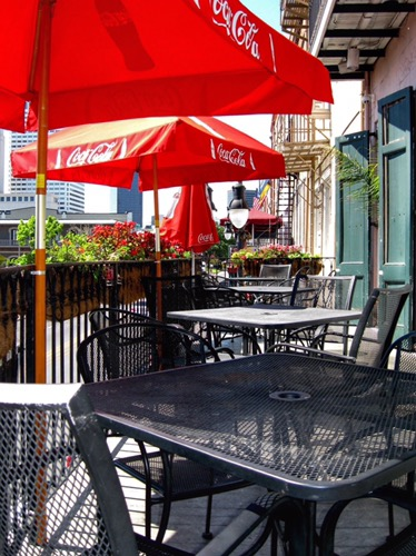 Balcony seating at New Orleans Hamburger and Seafood Company in New Orleans