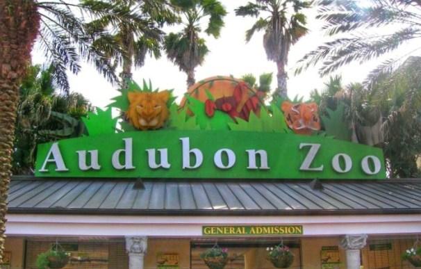 Audubon Zoo sign New Orleans Louisiana