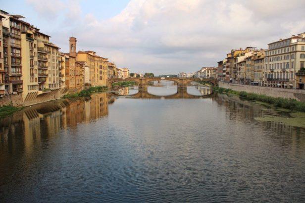 View from the Ponte Vecchio in Florence Italy