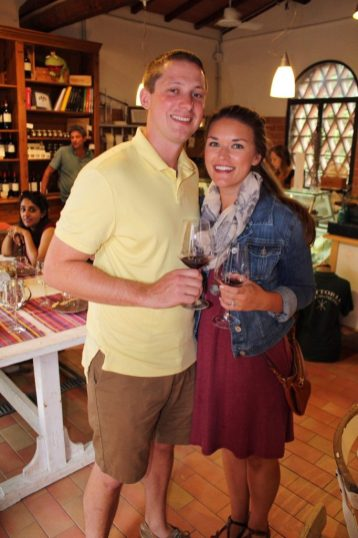 Eric and Lauryn at Corzano E Paterno in Tuscany Italy