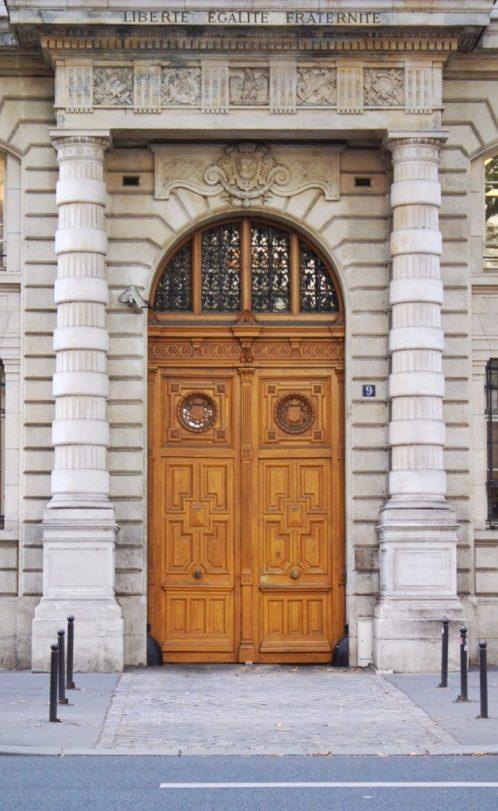 Beautiful doors in Paris France