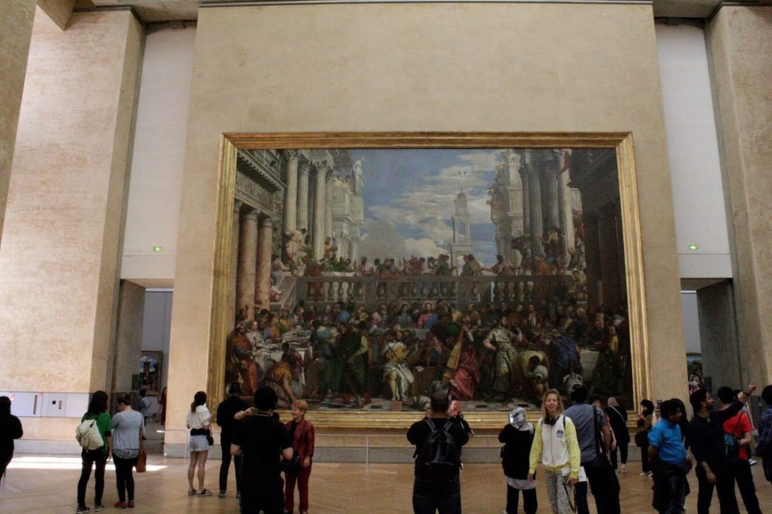 A Painting in the Louvre Museum in Paris France