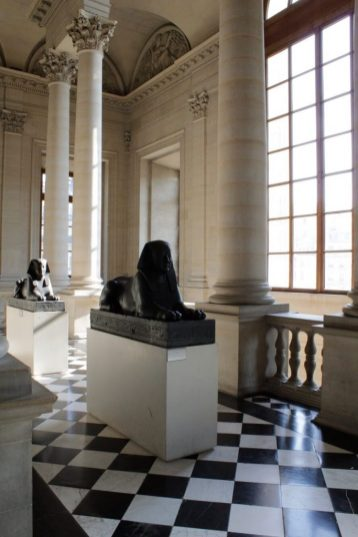 Sculptures at the Louvre Museum in Paris